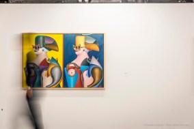 Richard Lindner, Double Portrait 1965. Olio su tela 101,5x152,5 cm