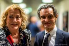 Diana Bracco e Attilio Fontana, la sera dell'inaugurazzione