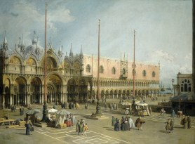 Canaletto (1697 - 1768), The Square of Saint Mark's, Venice, Italian, 1742/1744, oil on canvas, Gift of Mrs. Barbara Hutton