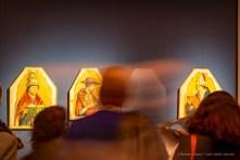 Antonello da Messina, San Gregorio Magno, San Girolamo, Sant'Agostino (1472-1473), tempera grassa su tavola trasportata su tela; 39 x 31 cm; 46,5 x 35,5 cm; 46,5 x 35,5 cm. Palermo , Galleria Regionale di Palazzo Abatellis