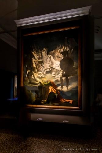 Jean-Auguste-Dominique Ingres, Le Songe d'Ossian 1813 huile sur toile 347x272,8 cm. Musée Ingres, Montauban