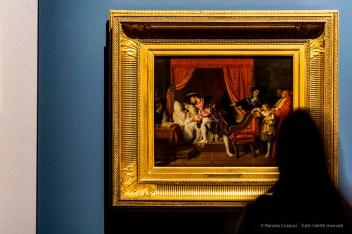 Jean-Auguste-Dominique Ingres, La Mort de Léonard de Vinci. 1818 olio su tela 40 50,5 cm. Petit Palais, Musée des Beaux-Arts de la Ville de Paris