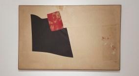 Nuvolo Senza Titolo 1956. Pittura su tessuti cuciti e montati su telaio 70 x 109 cm