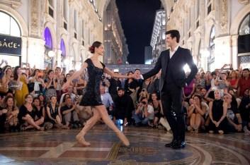 Ondance - tango in Galleria Vittorio Emanuele -Roberto Bolle e Nicoletta Manni