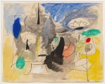 ARSHILE GORKY, Untitled, 1945-1946. Ink and oil on paper, cm 48,3 x 61. Private collection