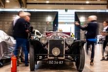 La LANCIA LAMBDA TIPO 223 VIII SERIE 1928 della coppia John e Rutger HOUTKAMP (scuderia The Houtkamp Collection) ai controlli di conformità a Brescia