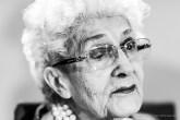 """Maria Teresa Benedetti, art historian, Grande Ufficiale della Repubblica, critic. Milano, June 2019. Nikon D810 85 mm (85 mm ƒ/1.4) 1/125"""" ƒ/1.4 ISO 1100"""