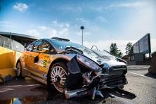 Elia Bossalini ed Edoardo Bresolin, protagonisti di uno spettacolare incidente durante la prova speciale.