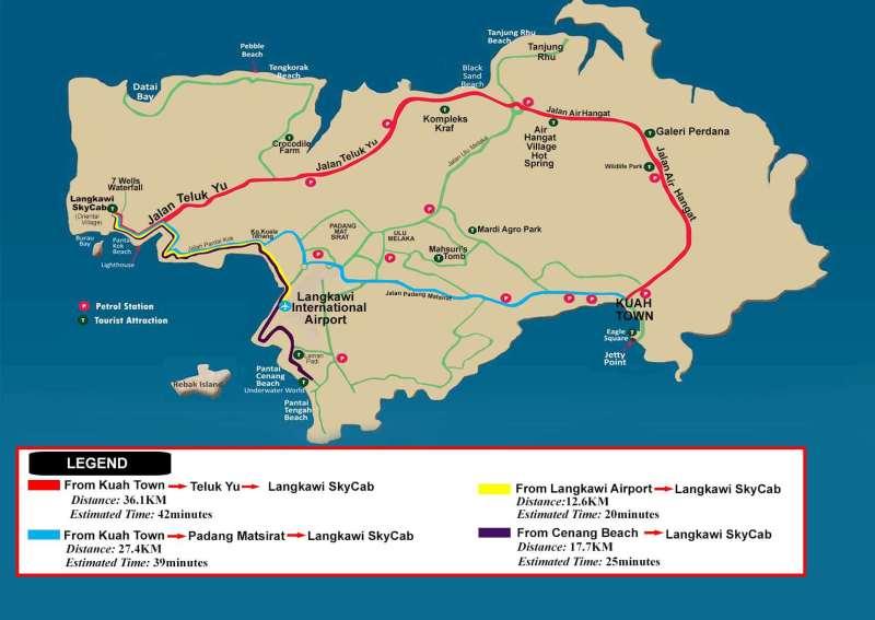 langkawi Sky Cab maps