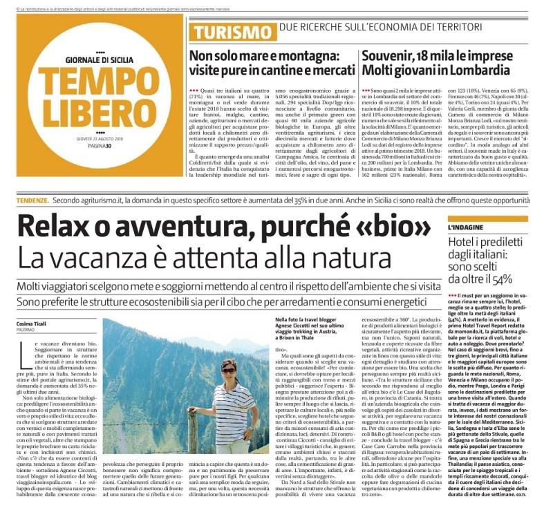 intervista giornale di Sicilia