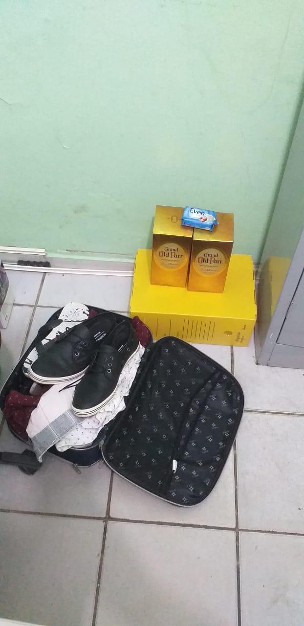Objetos furtados apreendidos