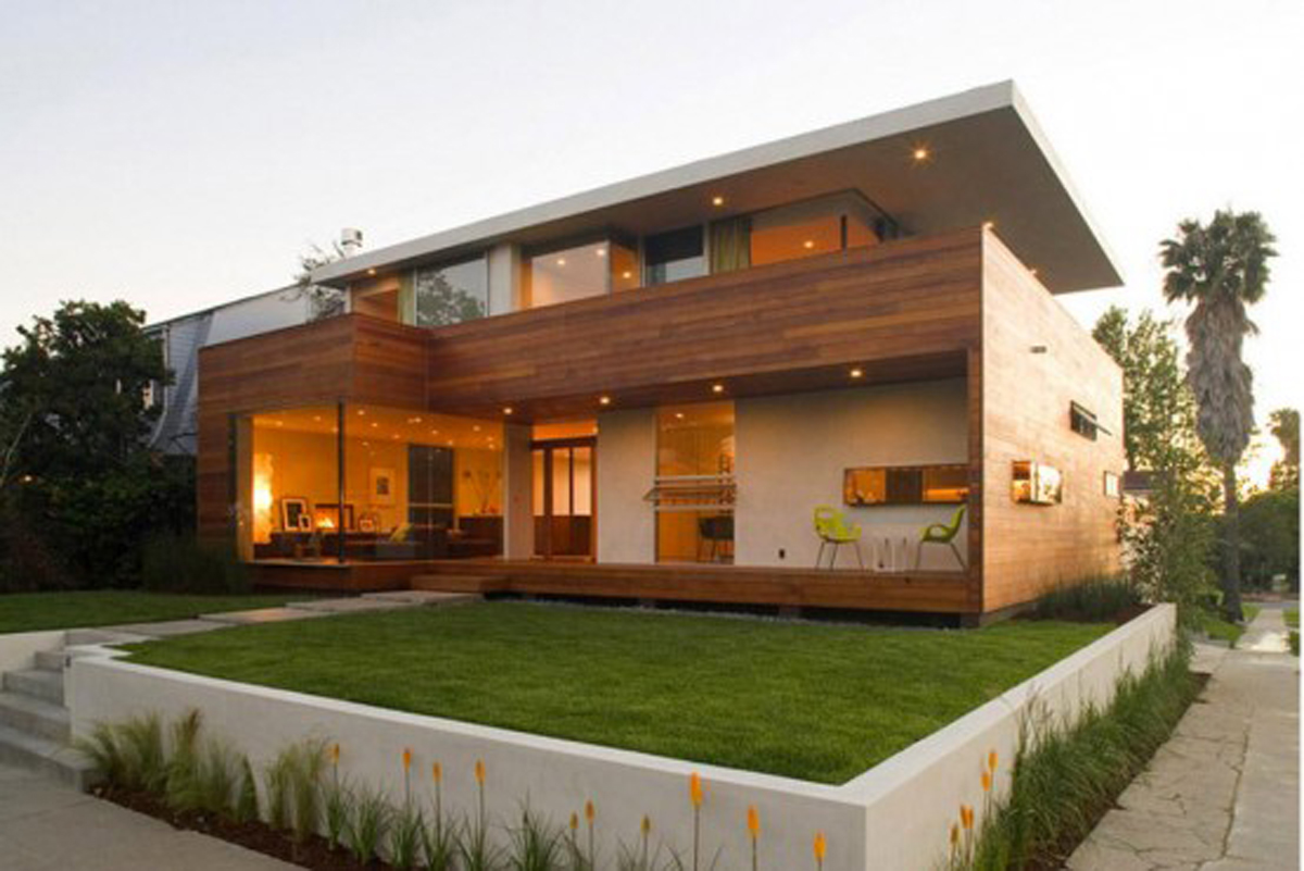 Combined Luxury House Design with Wooden Materials from Assembledge  ViahouseCom