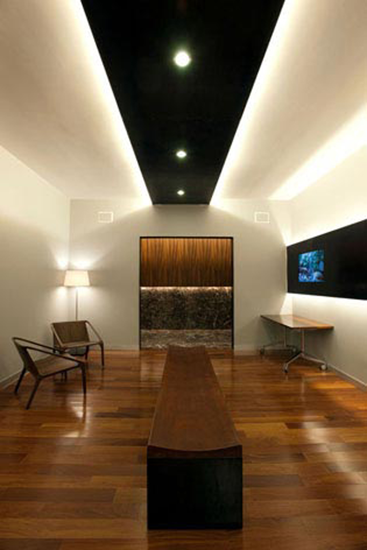 Contemporary Office Design with Wooden Material in Mexico City  Boardroom  ViahouseCom