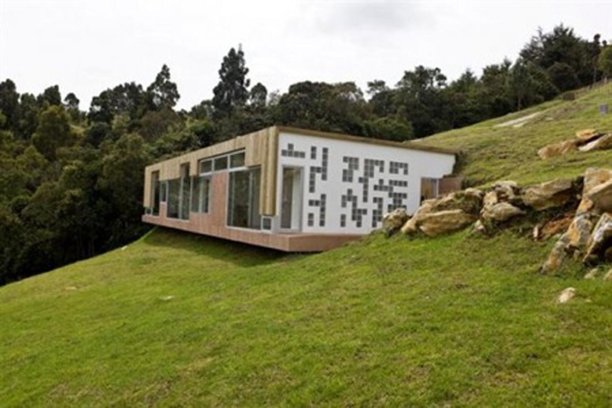 Unique House Design with Roof Entrance