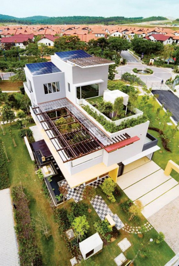 Great Tropical Houses in Urban Environment, Eco-Friendly Home Design in Malaysia