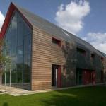Sliding Barn House Modern Style With Glass House Design Touch Sliding Technology Viahouse Com