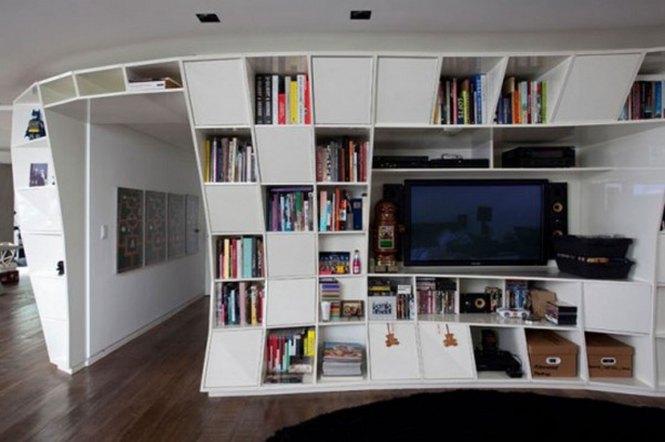 Awesome Design Bookshelf Apartment