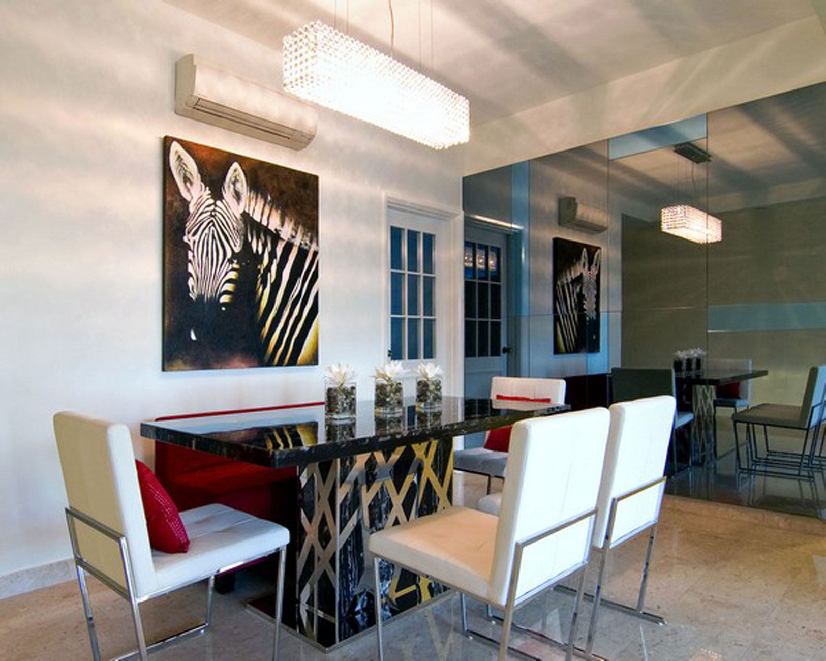 Beautiful Modern Meet Contemporary Design in An Apartment Plans  Dining Room  ViahouseCom