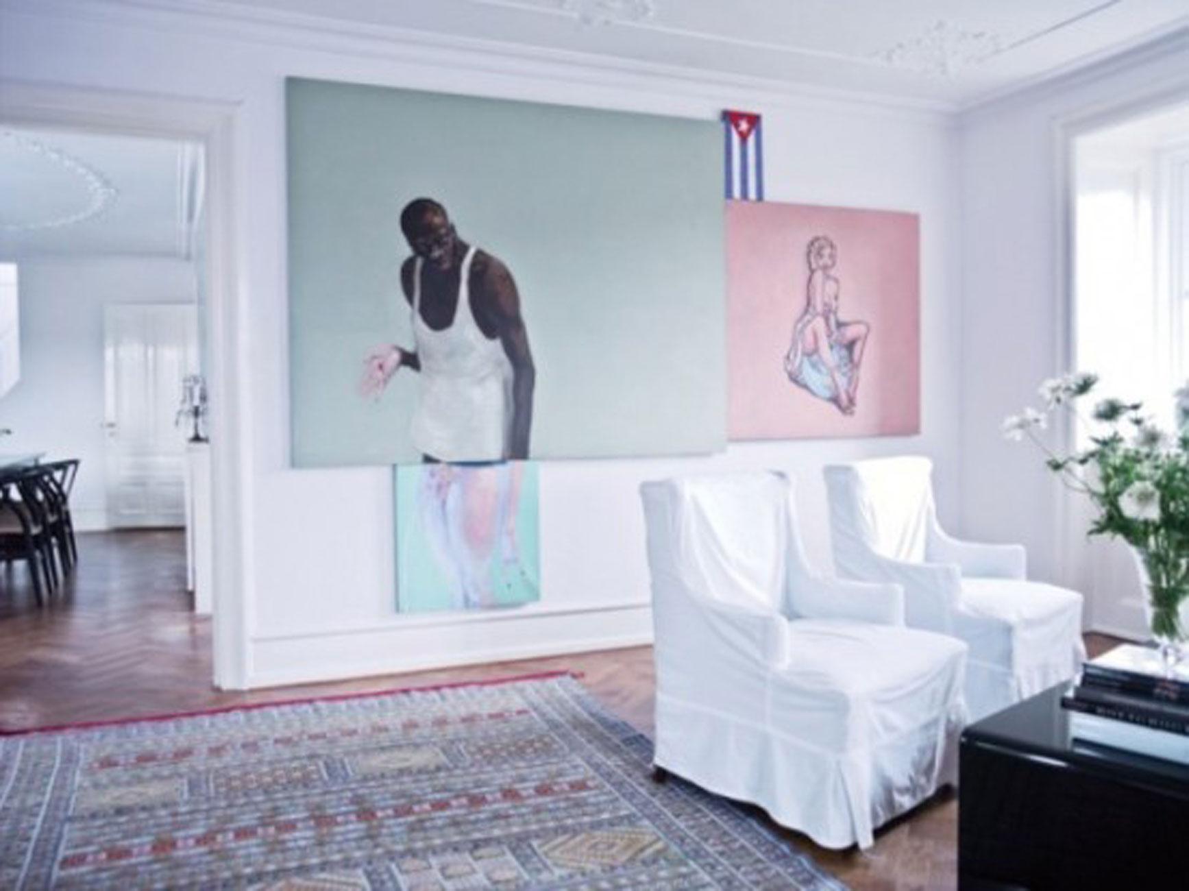 Bright Apartment Interior Design by Nina Nyborg  Wall