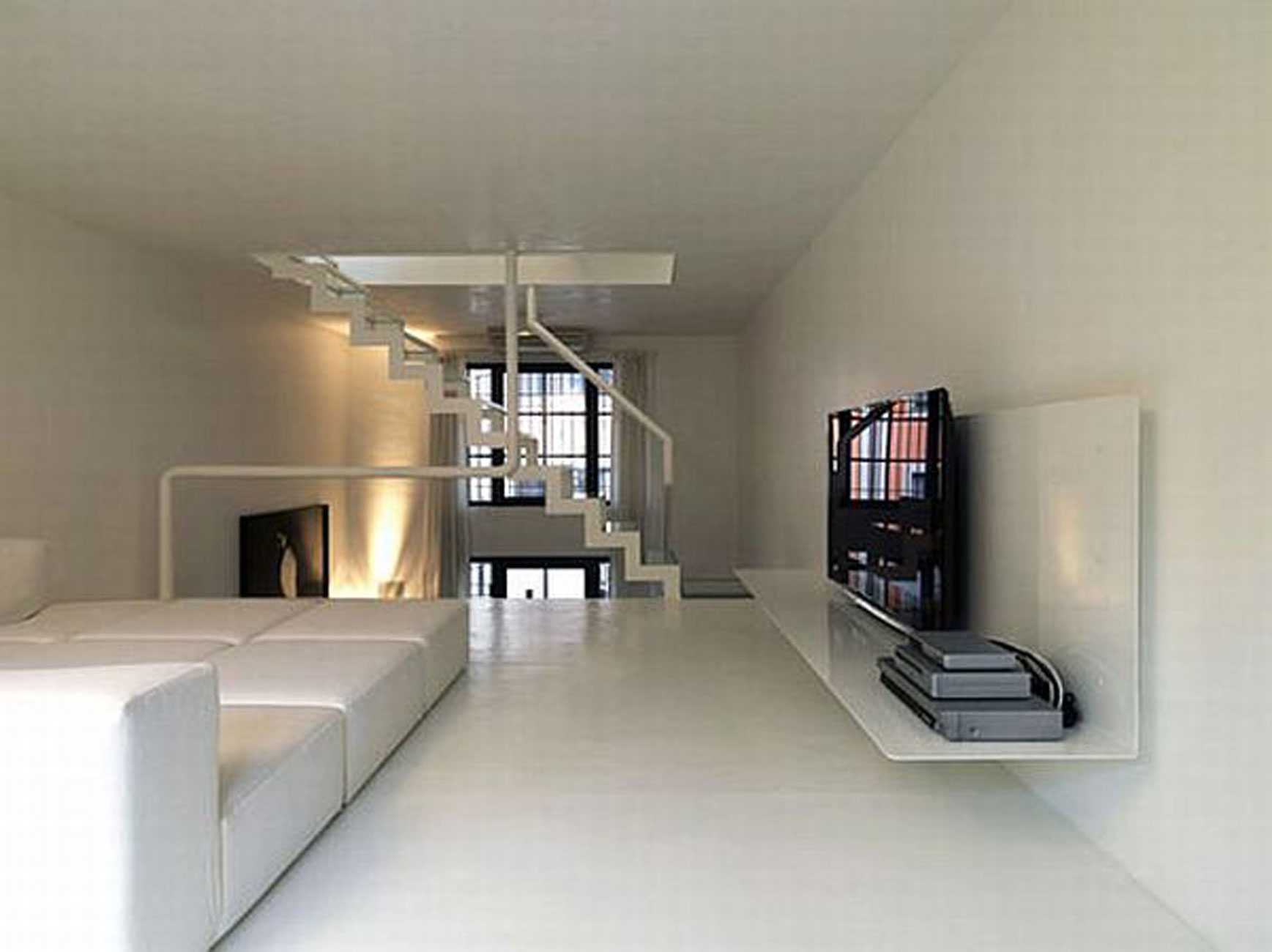 Renovated Industrial Factory into Minimalist Home Design with Spa and Gym  TV  ViahouseCom