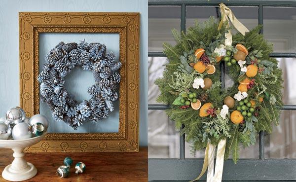 Christmas Wreath Decorating Inspiration  ViahouseCom