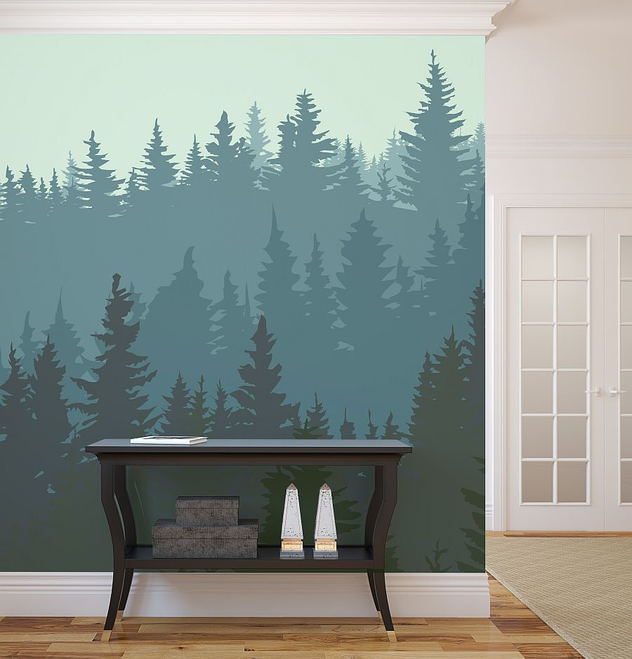wall mural ideas for living room small designs forest