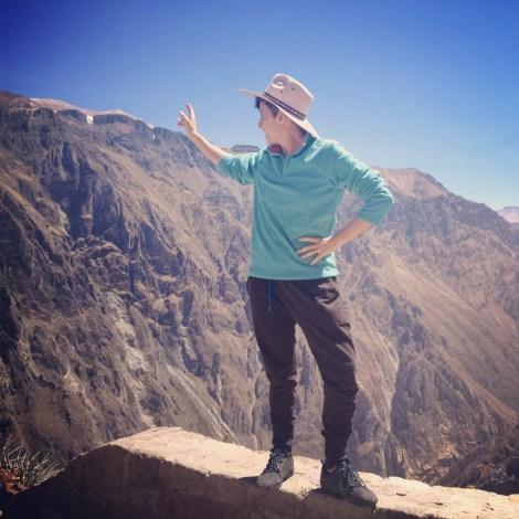 Peru 2013 Cañon del Colca Mirador del condor_ Yo