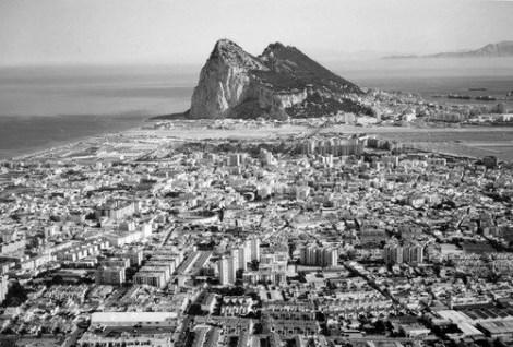 Gibraltar peñon aereo