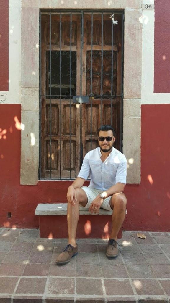 Un retrato en un portal de Guanajuato.