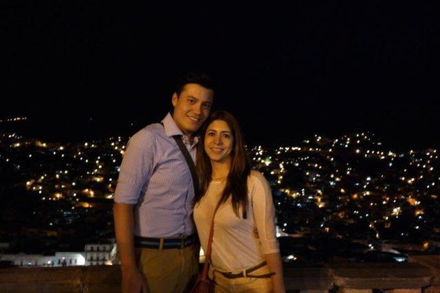 Las luces de la ciudad en Guanajuato.