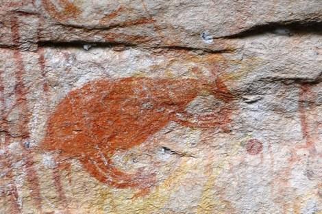 Arte aborigen en Ubirr