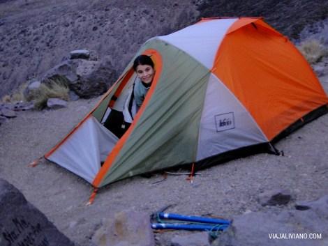 Campamento en el Refugio Piedra Grande
