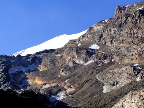Primera vista del glaciar