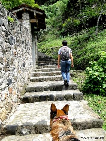 Camino hacia el Cerro de los Ídolos Malinalco México