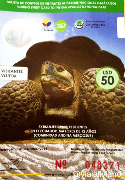 Tarjeta de control de visitantes Galápagos