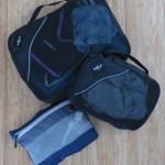 Cubos para empacar: en el grande todas las prendas de primera capa y algunos accesorios, en el mediano la ropa interior y en el pequeño los implementos de aseo