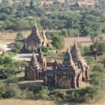 Algunos templos desde la torre Nan Myint