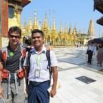Pagoda Shwedagon, con Zaw nuestro guía