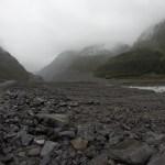 Caminando hacia el glaciar Fox