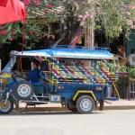 Tuk Tuk el transporte común en el sudeste asiático (una especie de moto taxi)
