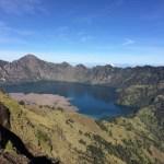 El cráter una vez iniciamos el descenso