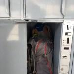 Lockers en la estación de buses donde pudimos dejar el equipaje que no necesitábamos