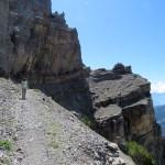 El ascenso por la ruta que elegimos tiene algunos pasos para caminantes con experiencia