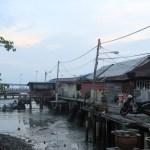 Las casas de los clanes en el puerto