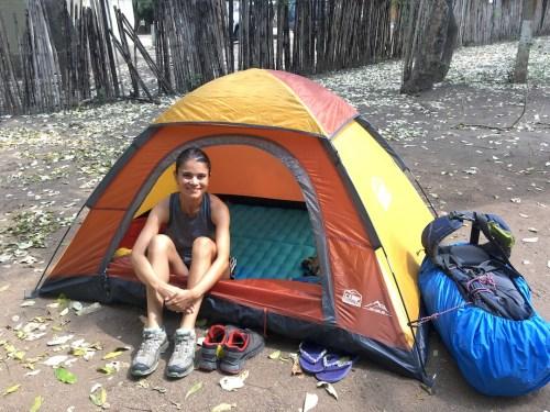 Nuestro campamento en Gorongosa