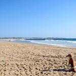 La playa casi para nosotros solos