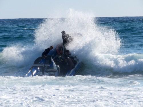 Entrada al mar para bucear
