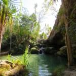 Un pequeño oasis en la caminata