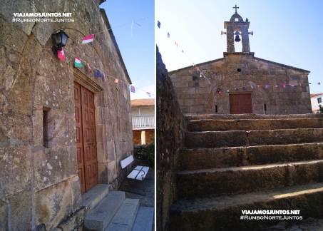 Horreos e iglesia de A Merca