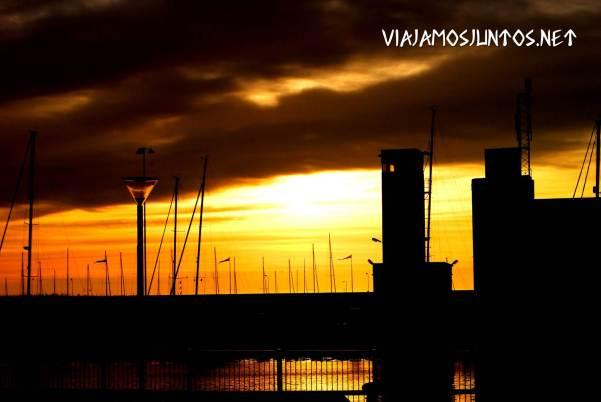 El puerto de Visby, Gotland, Suecia